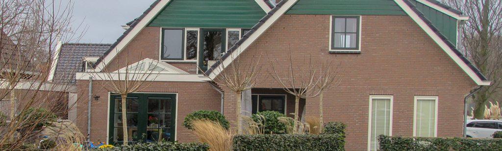 Woonhuis na het werk van de metselaar in Amsterdam